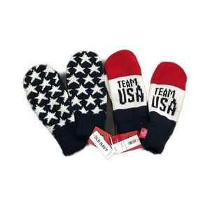 Olympic Team USA Official Mittens Set of 2 NWT